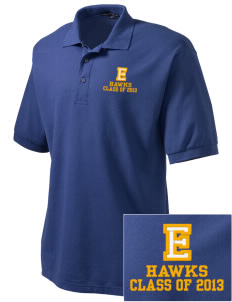 Explorer Elementary School Hawks Embroidered Men's Silk Touch Polo