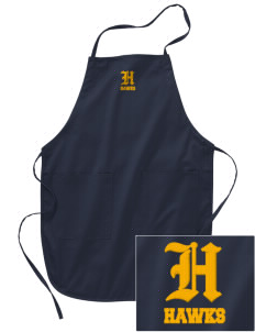 Explorer Elementary School Hawks Embroidered Full Length Apron