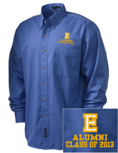 Explorer Elementary School Hawks Embroidered Tall Men's Twill Shirt