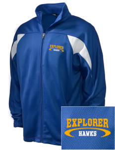 Explorer Elementary School Hawks Embroidered Holloway Men's Full-Zip Track Jacket