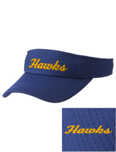 Explorer Elementary School Hawks Embroidered Woven Cotton Visor