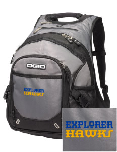 Explorer Elementary School Hawks Embroidered OGIO Fugitive Backpack