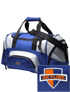 Skyline Elementary School Eagles Embroidered Small Colorblock Duffel