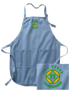 Val Verde Elementary School Thunderbirds Embroidered Full-Length Apron with Pockets