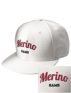 Merino Elementary School Rams  Embroidered New Era Flat Bill Snapback Cap