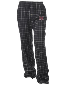 Merino Elementary School Rams Unisex Button-Fly Collegiate Flannel Pant with Distressed Applique