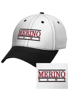 Merino Elementary School Rams Embroidered New Era Snapback Performance Mesh Contrast Bill Cap