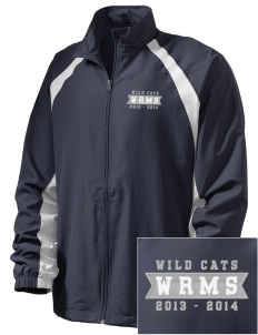 Wayne Ruble Middle Sdhool Wild Cats  Embroidered Men's Full Zip Warm Up Jacket