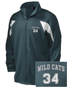 Wayne Ruble Middle Sdhool Wild Cats Embroidered Holloway Men's Full-Zip Track Jacket