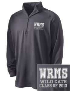 Wayne Ruble Middle Sdhool Wild Cats Embroidered Men's Stretched Half Zip Pullover