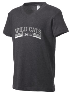 Wayne Ruble Middle Sdhool Wild Cats Kid's V-Neck Jersey T-Shirt