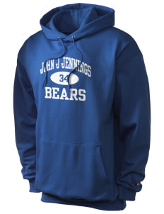John J Jennings Elementary School Bears Champion Men's Hooded Sweatshirt