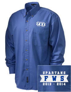 Frank Ward Strong Middle School Spartans Embroidered Men's Twill Shirt