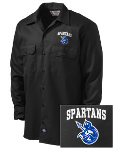 Frank Ward Strong Middle School Spartans Embroidered Dickies Men's Long-Sleeve Workshirt