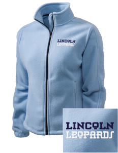 Lincoln Middle School Leopards Embroidered Women's Fleece Full-Zip Jacket