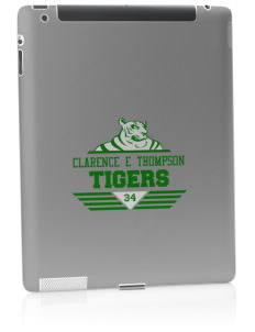 Clarence E Thompson Elementary School Tigers Apple iPad 2 Skin