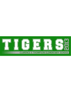 "Clarence E Thompson Elementary School Tigers Bumper Sticker 11"" x 3"""