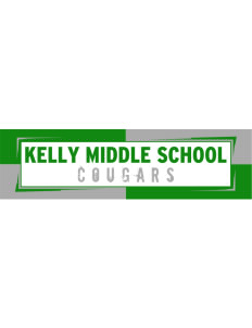 "Kelly Middle School Cougars Bumper Sticker 11"" x 3"""