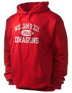 William Seely Elementary School Dragons Champion Men's Hooded Sweatshirt
