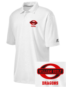 William Seely Elementary School Dragons Embroidered Russell Coaches Core Polo Shirt