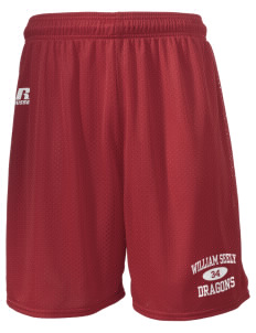 "William Seely Elementary School Dragons  Russell Men's Mesh Shorts, 7"" Inseam"