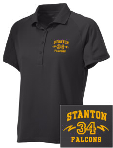 Stanton Middle School Falcons Embroidered Women's Polytech Mesh Insert Polo