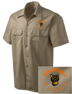 Morse Memorial Elementary School Tigers Embroidered Dickies Men's Short-Sleeve Workshirt