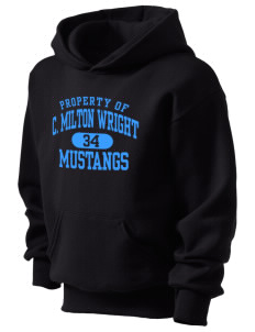 C Milton Wright High School Mustangs Kid's Hooded Sweatshirt