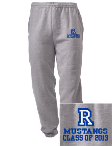 Ramona Elementary School Mustangs Embroidered Men's Sweatpants with Pockets