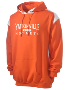 Yadkinville Elementary School Hornets Men's Pullover Hooded Sweatshirt with Contrast Color