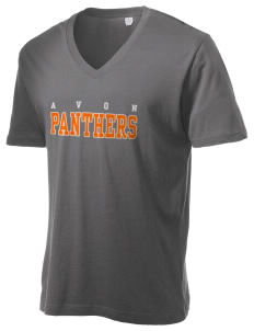 Avon Middle High School Panthers Alternative Men's 3.7 oz Basic V-Neck T-Shirt