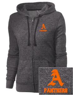 Avon Middle High School Panthers Embroidered Women's Marled Full-Zip Hooded Sweatshirt