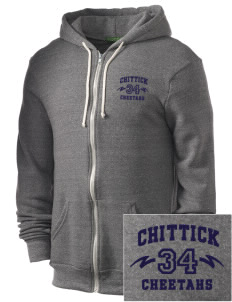 Chittick Elementary School Cheetahs Embroidered Alternative Men's Rocky Zip Hooded Sweatshirt