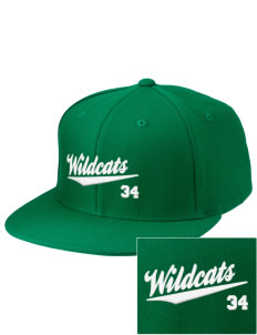 West Street Elementary School Wildcats Embroidered Diamond Series Fitted Cap