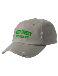 West Street Elementary School Wildcats Embroidered Distressed Cap