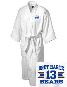 Bret Harte Elementary School Bears Embroidered Terry Velour Robe
