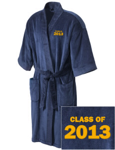 Southwest Community Campus Bulldogs Embroidered Terry Velour Robe
