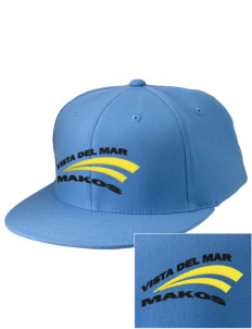 Vista del Mar School Makos Embroidered Diamond Series Fitted Cap