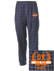 Oak View School Embroidered Men's Button-Fly Collegiate Flannel Pant