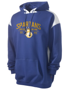 Mason County Central High School Spartans Men's Pullover Hooded Sweatshirt with Contrast Color