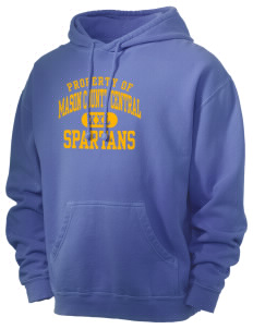 Mason County Central High School Spartans Men's 80/20 Pigment Dyed Hooded Sweatshirt