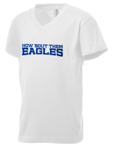 Troy Union Elementary School Eagles Kid's V-Neck Jersey T-Shirt