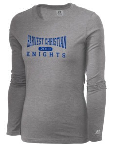 Harvest Christian Academy Knights  Russell Women's Long Sleeve Campus T-Shirt