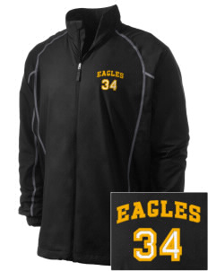 Hawthorn Eagles Embroidered Men's Nike Golf Full Zip Wind Jacket