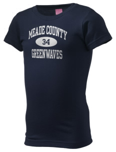 Meade County High School Greenwaves  Girl's Fine Jersey Longer Length T-Shirt