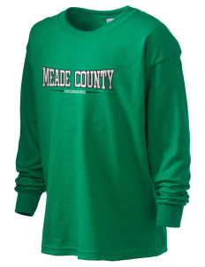 Meade County High School Greenwaves Kid's 6.1 oz Long Sleeve Ultra Cotton T-Shirt