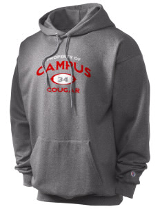 campus community school cougar Champion Men's Hooded Sweatshirt