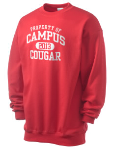campus community school cougar Men's 7.8 oz Lightweight Crewneck Sweatshirt