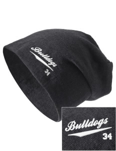 Bidwell Elementary School Bulldogs Embroidered Slouch Beanie