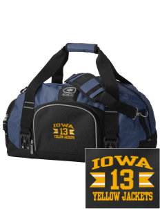 Iowa High School Yellow Jackets  Embroidered OGIO Big Dome Duffel Bag